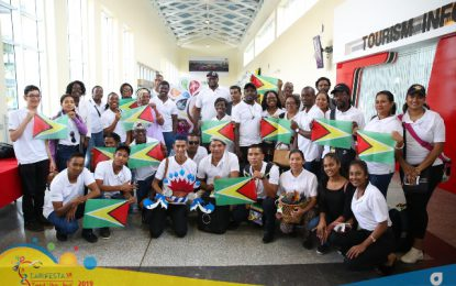 Guyana's 100 strong delegation arrives for CARIFESTA XIV