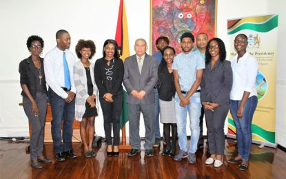 Minister Norton receives courtesy call from Linden Youth Leaders