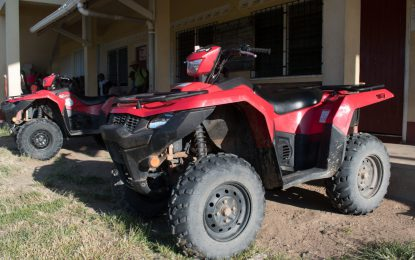 Indigenous communities boosted with ATVs