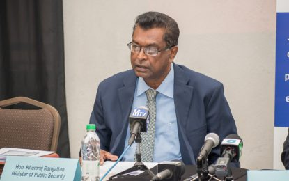 Statistics show crime on the decline – Min. Ramjattan