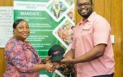 Department of Culture lauds MEGA 102.1 FM for donation of Caps to CARIFESTA X1V Contingent