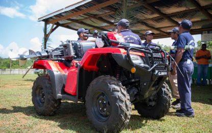 Port Kaituma Community Policing Group gets ATV, boat engine