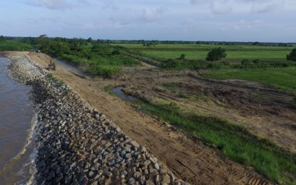 Leguan sea defence projects progressing