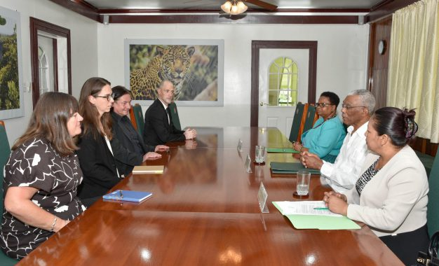 President Granger iterates support for GECOM at meeting with Carter Center