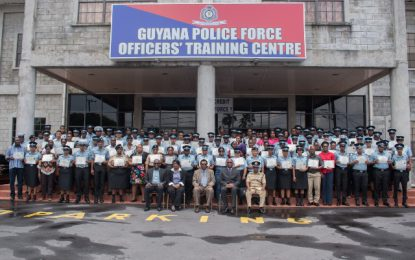 132 GPF Officers complete Domestic Violence Scenario training