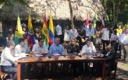 Guyana signs historic Amazonian pact to protect tropical forest