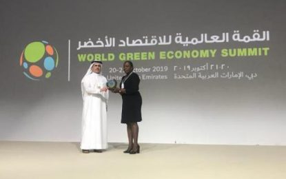 Minister Henry attends World Green Economy Summit 2019