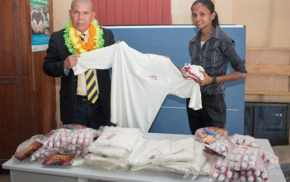 Sports gear donation to boost Cane Grove clubs