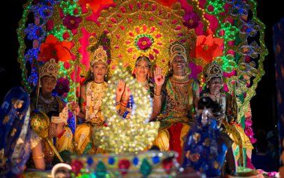 Kaleidoscopic Diwali motorcade attracts thousands
