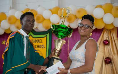 Richard Ishmael Class of 2019 graduate on a high