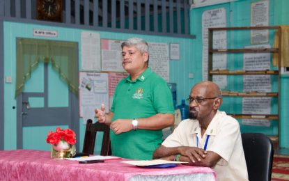 'All of Guyana will see development' – Min. Sharma tells Woodley Park residents