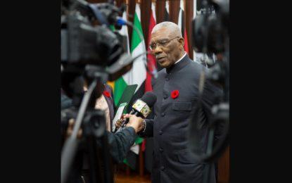 Pres. Granger awaiting Finance Minister's advice on Christmas bonus