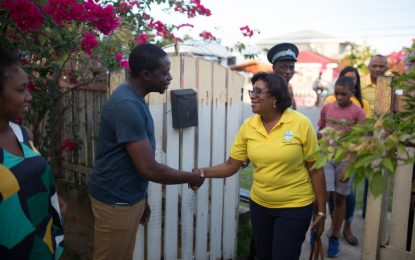 Min. Hughes hears grievances about NDC-related issues in Kingelly Village