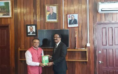 COURTESY CALL BY HIGH COMMISSIONER OF INDIA TO GUYANA, HIS EXCELLENCY DR. K.J.SRINIVASA