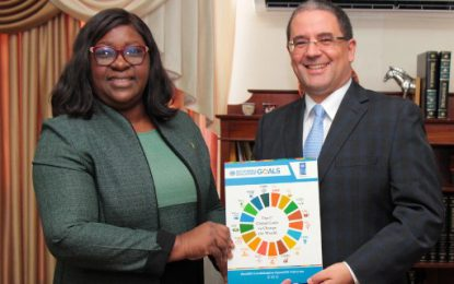 New UNDP Resident Representative in Guyana presents credentials