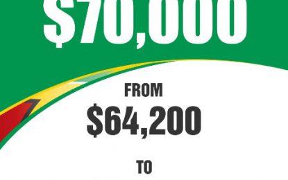 $70,000 – new minimum wage