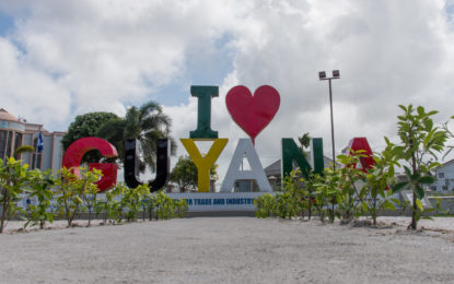 """I love Guyana"" sign is more than just a statement – Min. Rajkumar"