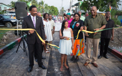 $12M bridge brings relief to Plaisance, Sparendaam residents