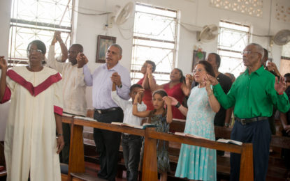 President Granger attends 'Holy Family Day' at Bartica Anglican Church