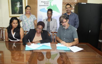 Protected Areas Commission of Guyana and the Guyana Tourism Authority sign MOU