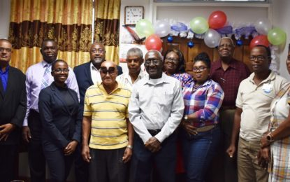 Seven past employees of the Guyana Post Office Corporation (GPOC) honoured