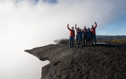Troy Henry and Edward Jameson, first two Guyanese to complete the ascent up the prow of Mount Roraima