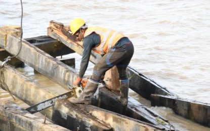 Leguan stelling emergency works to wrap up by Friday