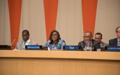 Guyana's Foreign Minister thanks G77 countries for support.