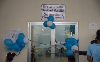 Wait time for outpatients at New Amsterdam Hospital reduced