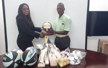 North Rupununi receives sporting gear