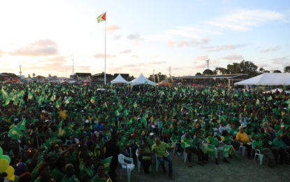 """Don't stop the progress""- Tens of thousands of Guyanese hear"