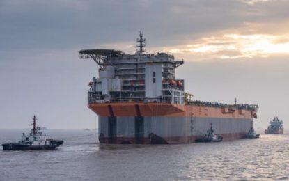 SBM's Liza Unity hull arrives in Singapore