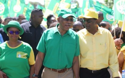 President Granger joins Coalition procession