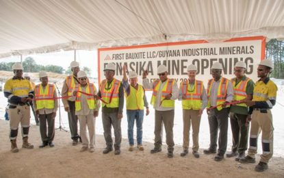 First Bauxite opens Bonasika Bauxite Project.