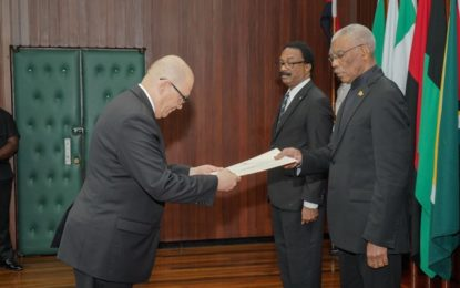 Namibian High Commissioner to Guyana accredited