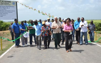 $110M rehabilitated Onverwagt farm to market road commissioned