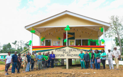 Puruni Health Post commissioned