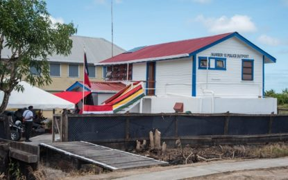 Police outpost upgraded at Mahaica