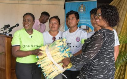 Education Ministry donates football gear to several schools