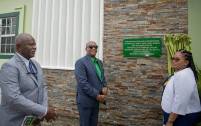 $57.5M Immigration and Passport office commissioned in Berbice