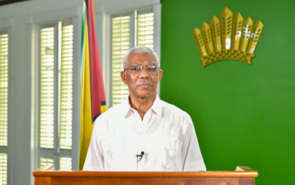 President Granger calls on Guyanese to adhere to COVID-19 precautions