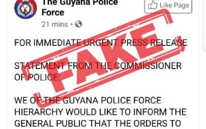 Beware of fake Police Facebook page – Public Security Ministry warns