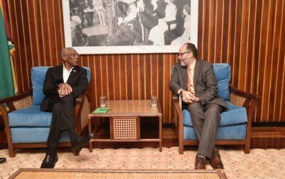 President Granger briefs CARICOM SG and OAS Observers
