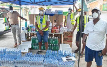 Linden Business Network distributes food hampers, face masks, sanitisation products