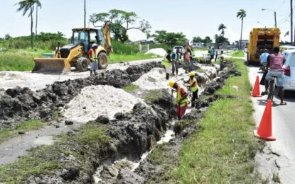 Installation of new pipeline at Cemetery Road to be completed today
