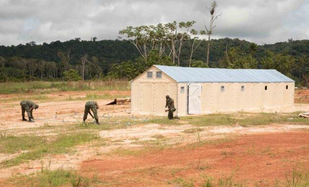 COVID-19 screening and testing unit set up at Aranka/ Arangoy Landing.