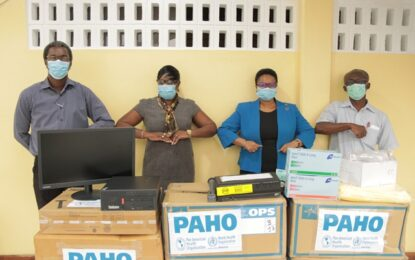 PAHO/WHO supports COVID-19 fight with donation to MoPH