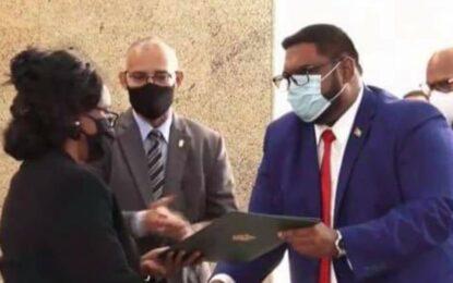 Dr. Ali sworn in President, Brigadier Mark Phillips appointed Prime Minister