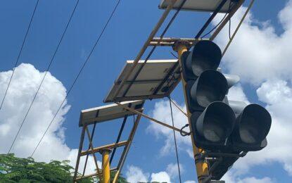 21 Traffic lights solar panels stolen