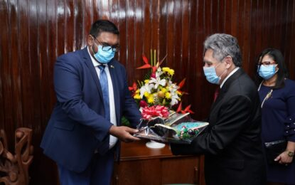 President Ali receives courtesy call from Mexican Ambassador